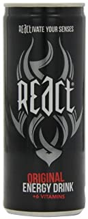 React Energy Drink 250 ml (Pack of 24) (B0067J1TTE) | Amazon price tracker / tracking, Amazon price history charts, Amazon price watches, Amazon price drop alerts