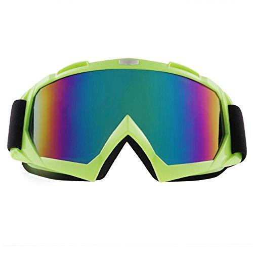 Sijueam Motorradbrillen Hochwertige Skibrille Anti Fog UV Schutzbrille mit Double Lens Schaumstoffpolsterung Uvex für Outdoor Aktivitäten Skifahren Radfahren Snowboard Wandern Augenschutz (Damen Skibrille Grün)