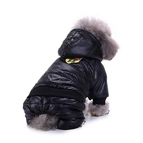 Smoro Winter Haustier Hund Mantel Verdickung Hund Daunen Jacke Kleidung Kostüm 4 Beine