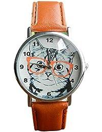 bc2f92f6d584 El Reloj Femenino del Cuarzo del Reloj del Gato del Cuarzo analiza los  Relojes de señora en el Reloj de…