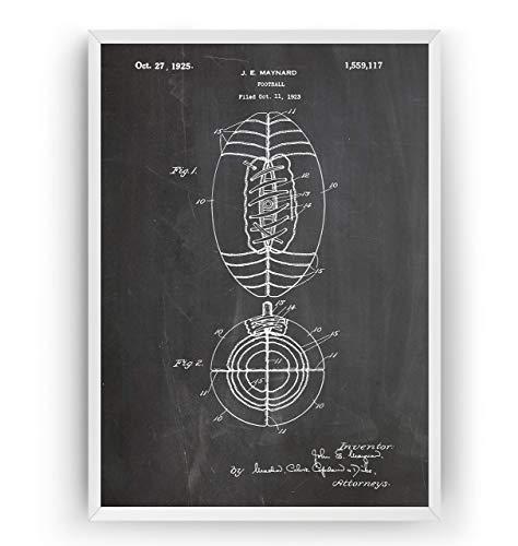 1925 Poster (Amerikanischer Fußball 1925 Patent Poster - American Football Jahrgang Drucke Drucken Bild Kunst Geschenke Zum Männer Frau Entwurf Dekor Blueprint Decor - Rahmen Nicht Enthalten)