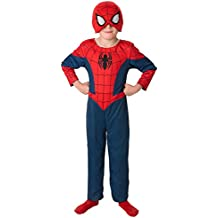 2 en 1 Último Negro y rojo traje de Spiderman. Grandes 7-8 años
