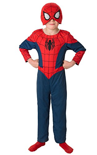 Rubie's 3889570 - 2 in 1 Ultimate Spiderman Classic Child, (Spiderman Anzug Black)