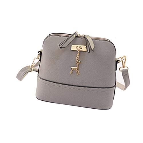 Kalbsleder-leder-satchel (Weant Neue Frauen Bote Jahrgang kleines Shellscript aus Handtasche lässig Kalbsleder PU Leder Hängende Verzierung)