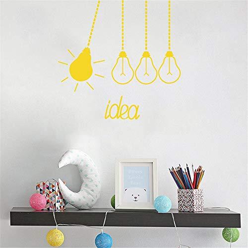 Wandaufkleber Kinderzimmer Wandtattoo Kinderzimmer Design-Glühlampen-moderne Klassenzimmer-Zitat-Idee scherzt Schlafzimmer-Innenraum