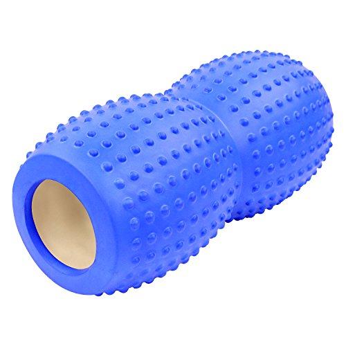 peanut-shape Yoga Foam Roller für Muskel Massage–33x 12,7cm für Physiotherapie & Übung–Ideal für myofasziale Release–Rückseite/Full Body Steifigkeit Relief, blau