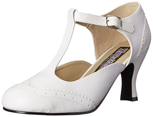 Pleaser Damen Flapper 26 T-Spange - Weiß (Wht Pu) - 39 EU (6 UK)