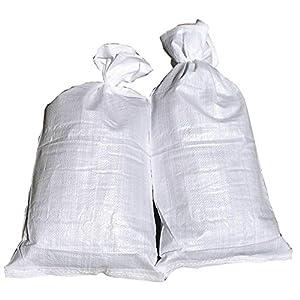 10 Hochwasser Sandsäcke PP Sandsack Hochwassersack weiß Hochwasserschutz Sandsack Für Hochwasser Zum Befüllen Fa.ars