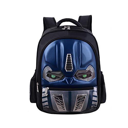 YXRL Kinder Schultasche Rucksack 3D Transformers Luminous Waterproof Bag Blue D