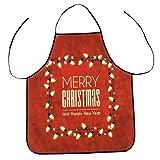 Weihnachtsdekoration Weihnachten Schürze Wasserdichte Dinner Party Schürze Festliche 3D Druck Kochschürze Latzschürze Kochen Küche Schürze BBQ Weihnachten Geschenk Neuheit für Kinder Frauen Männer