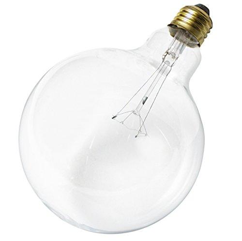 Klar Satco-glühlampe (Satco 25G40 Glühlampe, Kugelform, 25 W, E26 G40, klar, 6 Stück)