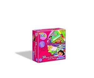 Clementoni - 62032 - Jeux De Société - 30 Jeux Classiques Dora