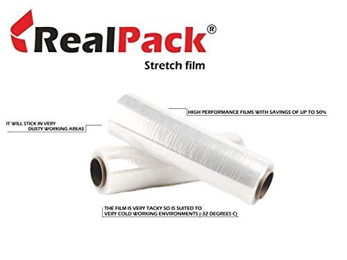 St@llion verpackungsfolie voor paletten, rol met 400 mmx250 m, Transparant