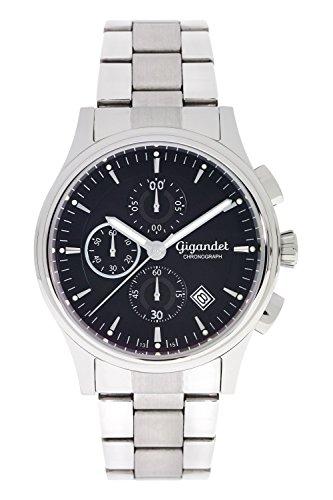 Gigandet Herrenuhr Chronograph Quarzwerk mit Edelstahlarmband G44-001