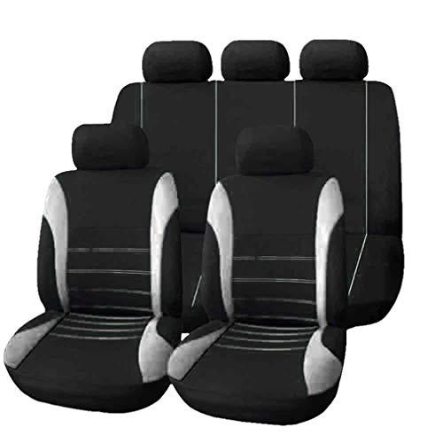 HotYou Copri-sedili Auto Universale | Set Copri-Sedile Universali per Anteriori e Posteriori | Accessori Auto Interno,Rimovibile e Lavabile,Grigio