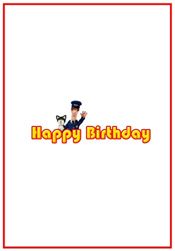 Image of Personalised Postman Pat Inspired Birthday Card - Stunning !