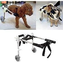 Wuchance Paseo de la silla de ruedas del carro del perro casero del animal doméstico del