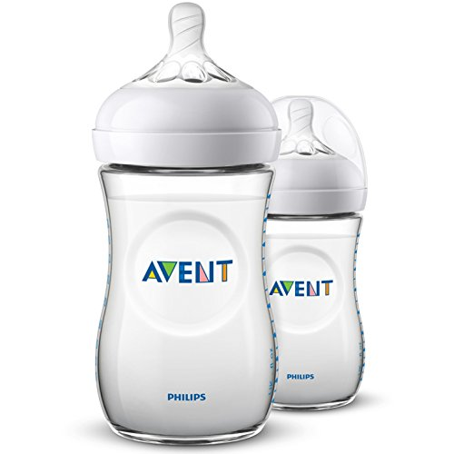 Philips Avent SCF033/27 - Biberón natural de 260 ml, Pack de 2 biberones, transparente