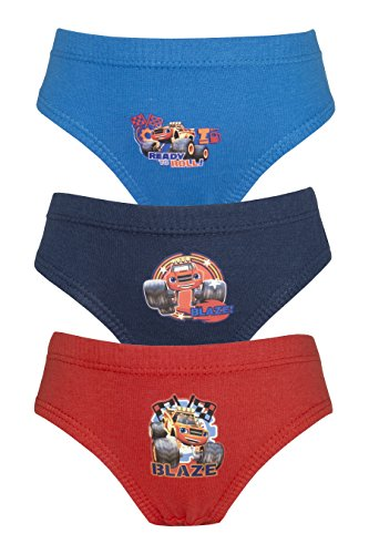 Pantaloni/slip da 3 pezzi blaze and the monster machines - 4-5 years/110 cms