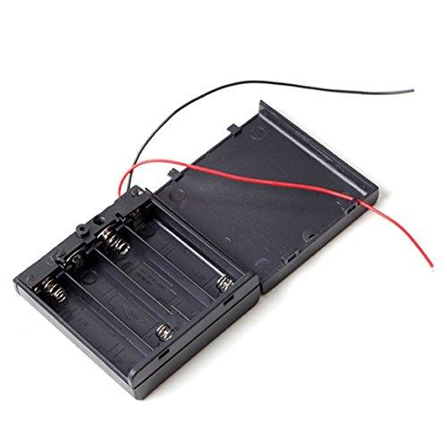 RBTMKR Batteriehalter Battery Case Mit Schalter Lagerung Clip-Halter Box für 4 Stück AA Batterie, SUHDAC (Switch Box Cover)