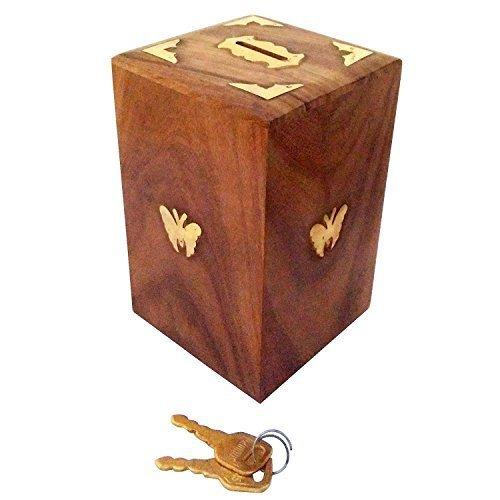 Frauen-Tagesgeschenk Handgefertigte Holzspardose Sichere Piggy Bank für Mädchen und Jungen, Platz dekorative Geldbank , Holz Münze Aufbewahrungsbox Spezielle Geschenke am Karfreitag Holz Piggy Bank
