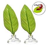 ASOCEA Betta-Hängematte, künstliche Blätter, für Aquarien, mit Saugnapf, 2 Stück