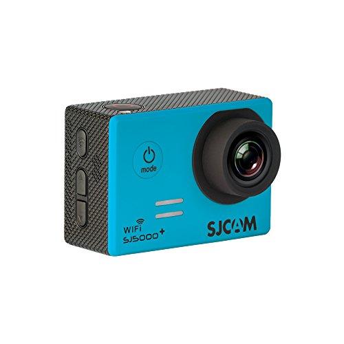 SJCam 5000 Plus (versión española) - Videocámara deportiva con chip Ambarella y sensor Panasonic 16MP (WiFi integrado LCD 1.55'', 2k 2560x1440/30fps, sumergible 30M) color azul