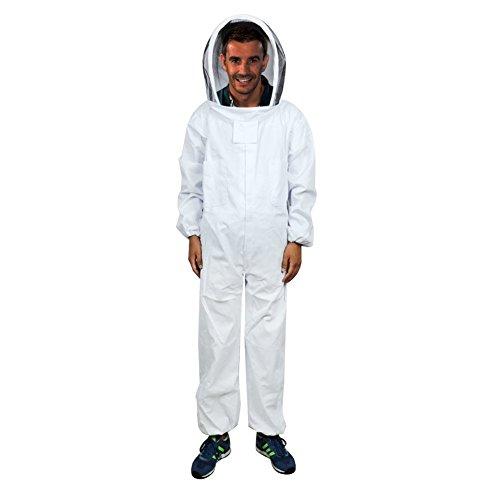 Traje de apicultura profesional con velo redondo y cuerpo completo XXL para apicultura, control de plagas