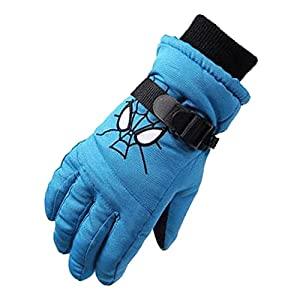 Eastlion Kinder Ski Handschuhe Winter Outdoor Jungen und Mädchen Fünf Finger Warme Wasserdichte Verdickung Student Spielen Schnee Handschuhe