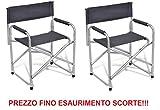 Sessel klappbar Regisseur Typ Erste in Aluminium und Stoff in Textilene grau–ideal für campeggio- Angebot für 2Stück.