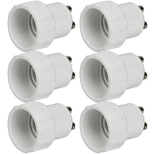 MENGS® 6 Stück Qualität GU10 auf E14 Lampenfassung Konverter Adapter Mit Hohe Temperaturbeständigkeit ABS Material