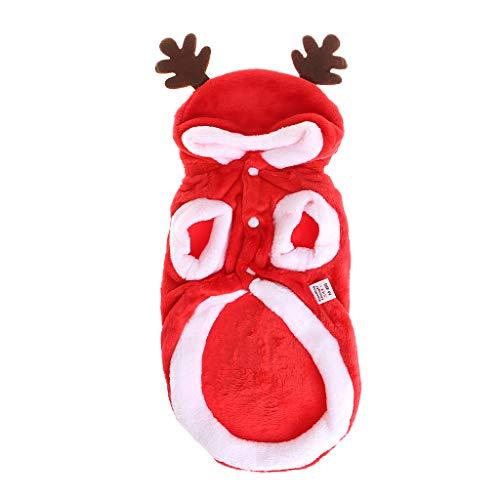 ECMQS Weihnachten Hund Kleidung Winte Mantel Kleidung Santa Kostüm Haustier Hund Weihnachten Kleidung Niedlichen Welpen Outfit Für Hund (Santa Kostüm Für Hunde)