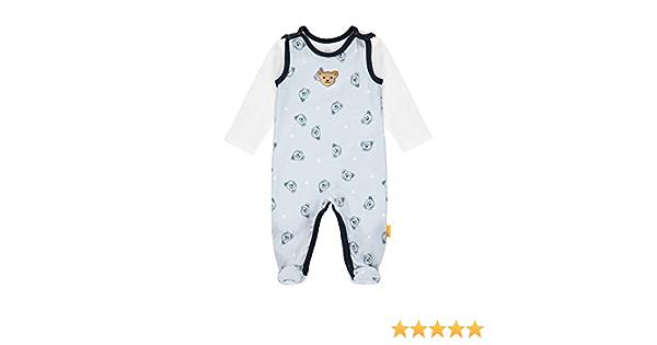 T-Shirt Langarm Steiff Baby-Jungen Mit S/ü/ßer teddyb/ärapplikation Set Strampler