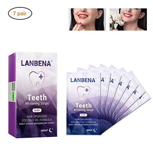 Zahnaufhellung White Stripes - Weiße Zähne In Wenigen Tagen - Zahnschonende Whitestrips - 14 Bleaching Strips - Teeth Whitening - Zähne Schnell Aufhellen - Zahnbleaching