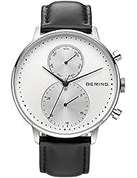 Bering Reloj clásica con cinta de piel 13242–404
