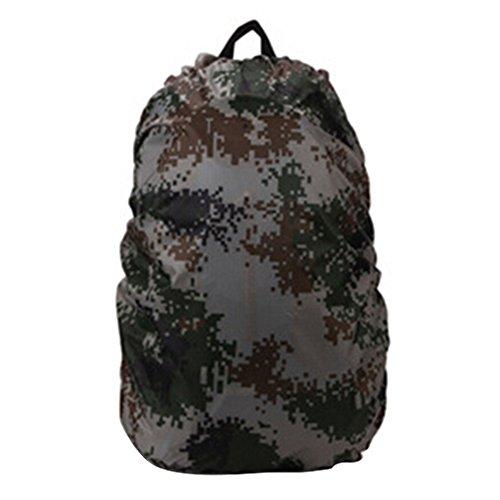 Nylon campeggio escursionismo zaino, copertura antipioggia impermeabile zaino di, Camouflage