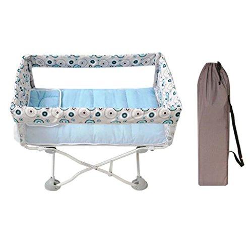 DS- Babyzaun Mini Krippe zusammenklappbar multifunktionale Babybett tragbare Kinderbett Neugeborenen abnehmbare Kinderbett Net Reisebett Last 15 kg && (Farbe : A) -