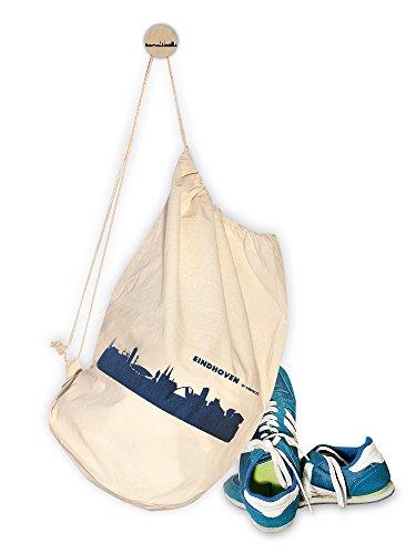 Stylischer Turnbeutel mit blauer EINDHOVEN Skyline - CITY GYM BAG von 44spaces (Andenken Jugendliche)