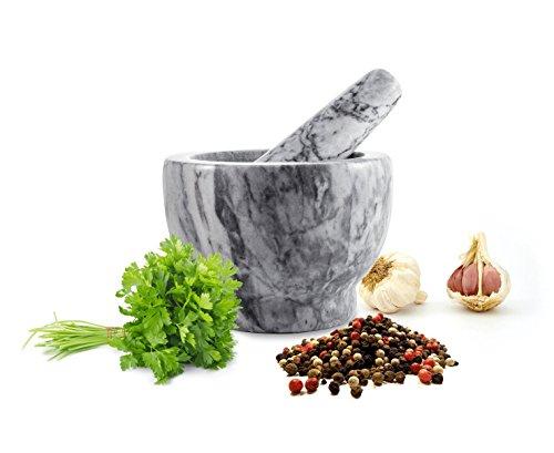 Mortero con mango 2piezas de mármol Ø13Schlegel picadora Mortero para especias (2,3kg
