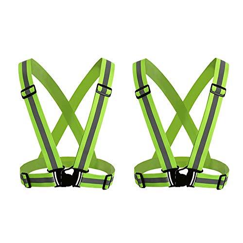 Extaum Reflective Vest mit High Visibility Bands Tape Mehrzweck Verstellbarer elastischer Sicherheitsgurt für Nachtlauf Radfahren Motorrad Dog Walking -