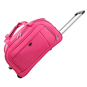 "JAM Traveller 26"" Pink Holdall Trolley Bag Case Wheeled Travel Luggage Suitcase"