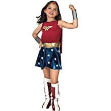Rubie's Official Children's Deluxe Wonder Woman - Fancy Dress Costume, 147 cm - Large, 8-10