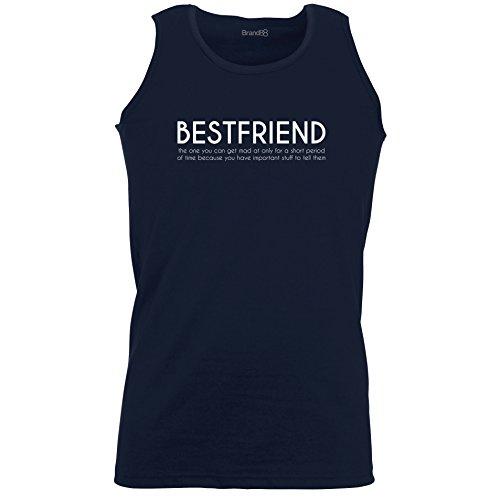 Brand88 - Bestfriend, Unisex Athletic Weste Dunkel Blau