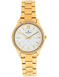 Escort Analog White Textured Dial Women's Watch- 4680 GM