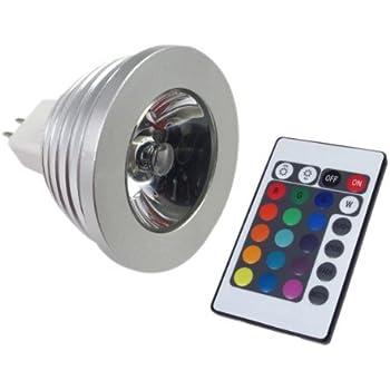LemonBest MR16 Multi-color cambio remoto bombilla Led con mando a distancia, 12 V Dc