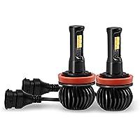 Majome 2 Piezas H11 LED Faros antiniebla Impermeable 12V Coche Faro conducción de Seguridad lámpara de Advertencia
