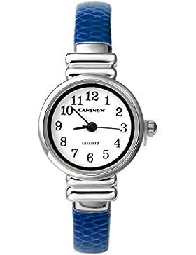 JSDDE Uhren,Elegante Damen-Armbanduhr XS Slim PU Leder Metallband Spangenuhr Chic Frauen-Maedchen Analog Quarzuhr...