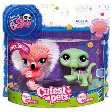 Littlest Pet Shop - Knuddeltierchen - #2572 Flamingo & #2573 Krokodil - OVP (Littlest Pet Flamingo Shop)
