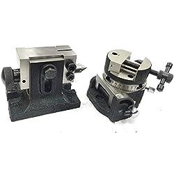 Precision 7,6cm pouces/80mm inclinable rotatif Table circulaire avec étau et Convient Tailstock- fraisage outils de l'ingénierie