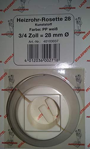 Heizrohr-Rosette Klapp-Rosette für Anschlussbogen / -rohr   Weiß   WC, Toilette   3/4 Zoll = Ø 28 mm Rohr-Halsband